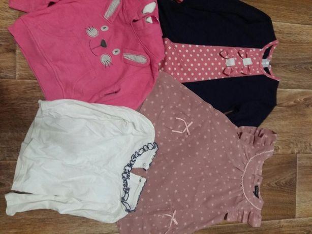 Платья и джинсовый ромпер на девочку 1-1,5 года