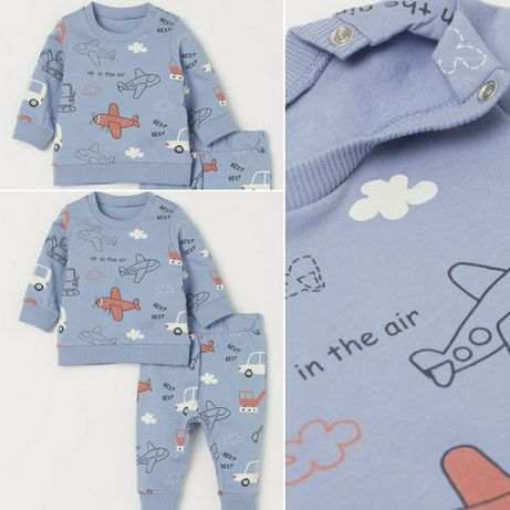 Фірмовий костбм H&M на хлопчика 6-9, 9-12 міс, набор на мальчика штаны