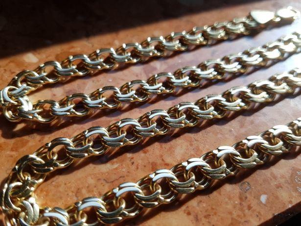 Złoty Garibaldi próby 585/14 k. Prawie 50 g! Piękny wyrób jubilerski.