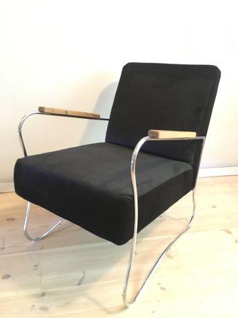 Fotel Zadziele Wschód Bauhaus chrom vintage