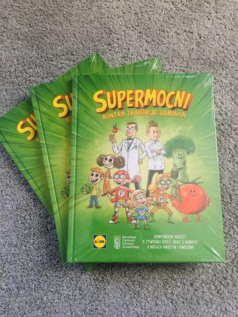 """Książki,książka Lidla""""Supermocni"""", NOWE,zafoliowane, super cena!"""