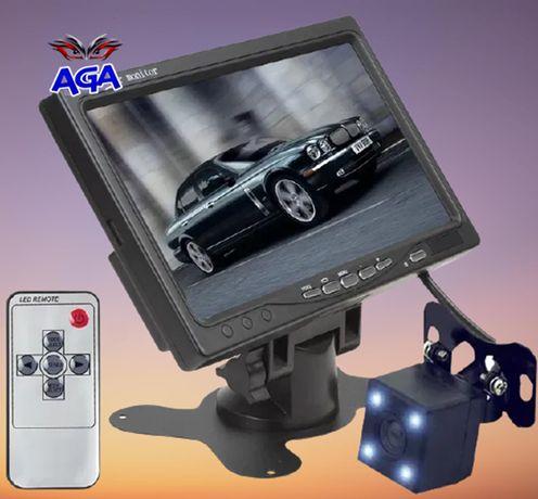 Monitor Samochodowy LCD 7+ Kamera Cofania 4 Led