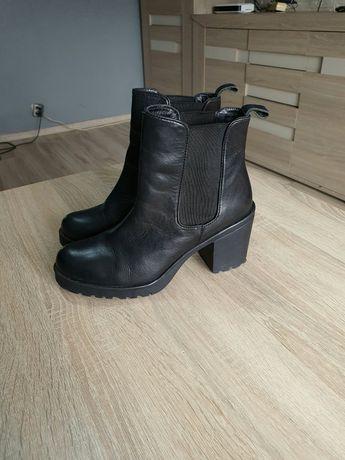 Buty botki damskie 38 czarne