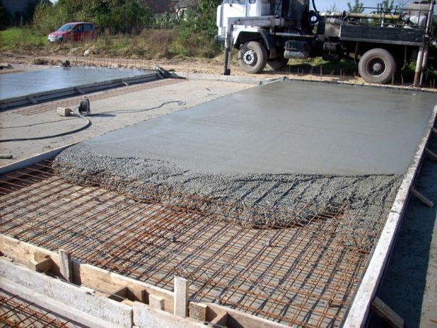 Бетонные земельные работы. Фундамент заливка бетона стяжка