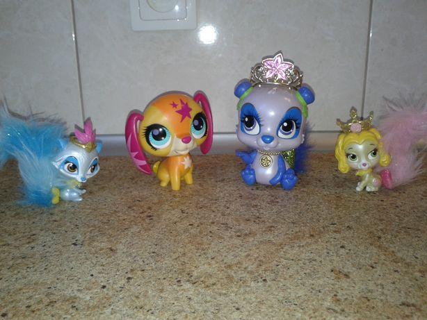 Zestaw 2 duze LPS interakywne, śpiewajace i 2 zwierzątka Barbie