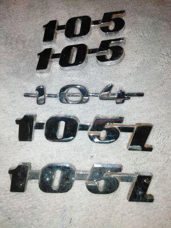 Emblemat znaczek syrena 104. 105l i 105 metalowy i plastikowy