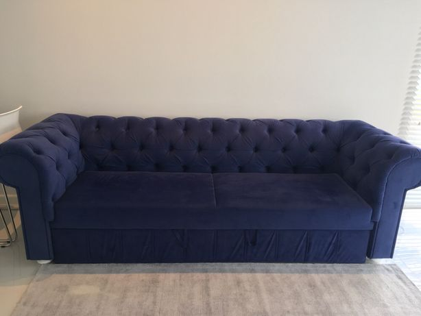 Sofa Chesterfield z funkcja spania