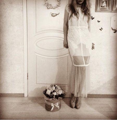 Вечернее платье фатин кружево imperial