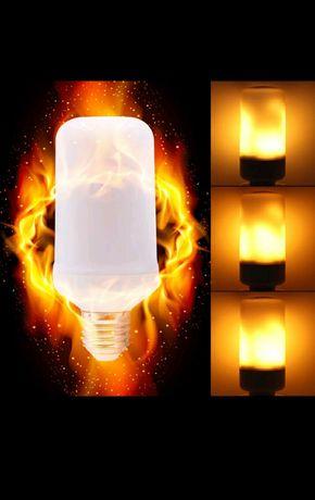 Led лампочка, пламя.