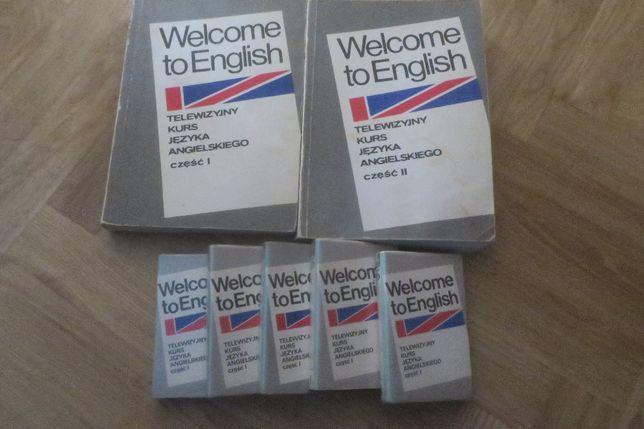 Książki do angielskiego i kasety