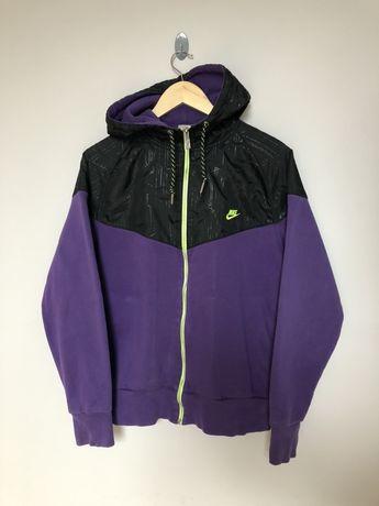 Fioletowa bluza rozpinana nike z kapturem zip hoodie