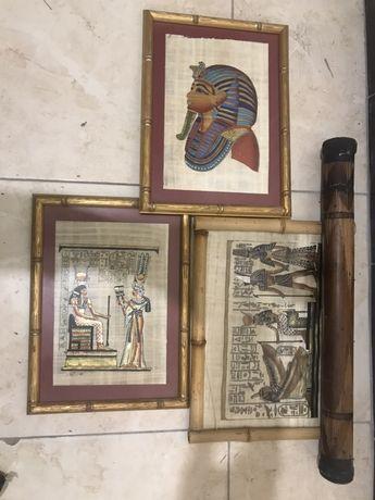 Оригинальные картины с парирусами Египта