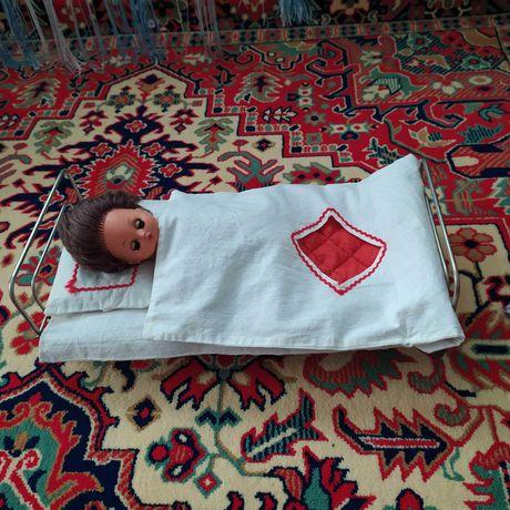 Кроватка для кукол и постель СССР