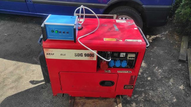 Agregat prądotwórczy trójfazowy z ATS, Diesel 9,8KW spalanie 1L/h AVR