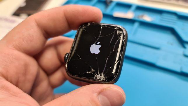 Wymiana szybki Apple Watch 5 Series 6 4 42 44mm. Wymiana dotyku