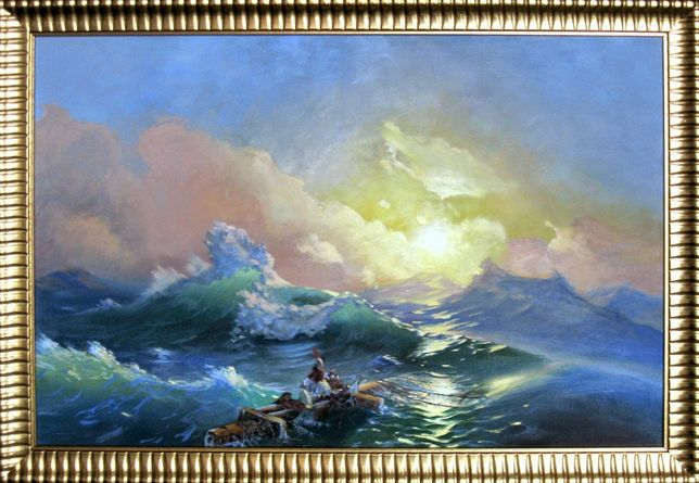 Картина маслом Девятый Вал Айвазовского.