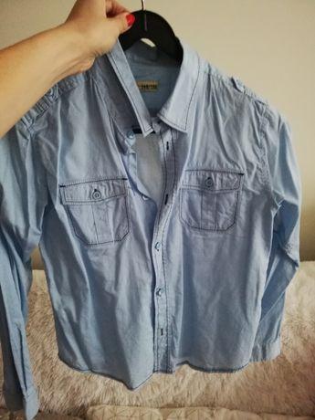 koszula 140 146 niebieska kratka, bluza 140 146