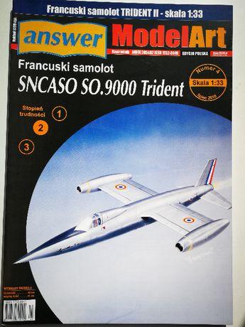 Model kartonowy Answer 4/2010 SNCASO.SO.9000 Trident
