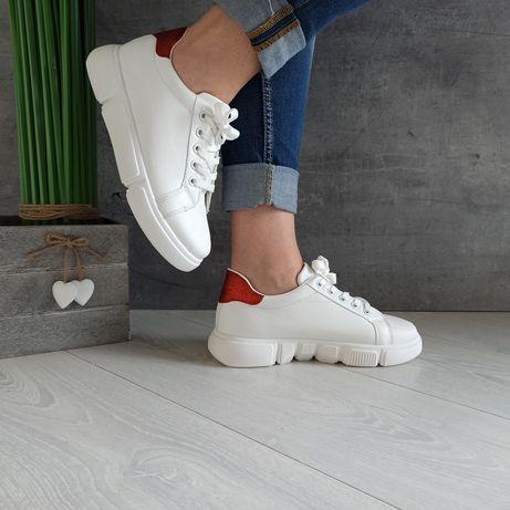30 zł - 37-40 CL33303-białe Buty białe gruba podeszwa platforma .bardz