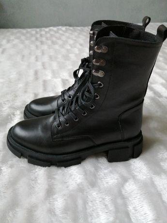 Ботинки кожаные зимние, черевики шкіряні зимові