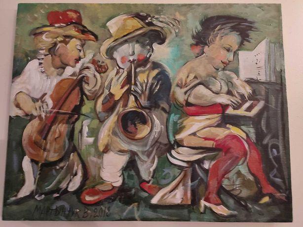 """Obraz olejny Wasyl Martynczuk """"Trio"""" 40x50cm"""