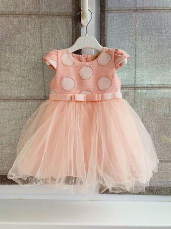 Нарядное платье для девочки, 12-18м