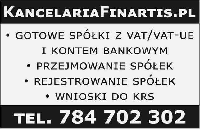 Gotowe spółki z VAT i kontem bankowym na białej liście od 3000 zł!