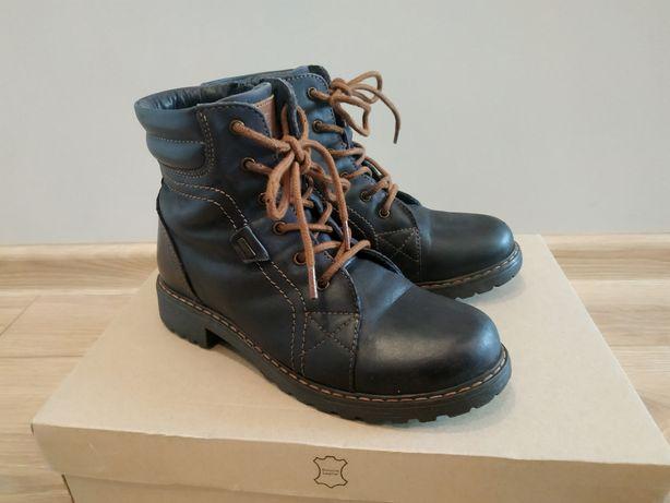 Skórzane buty zimowe Lasocki r. 33