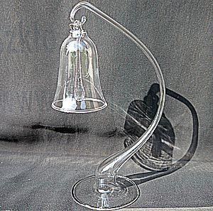 Szklany stojak na małą bombkę statyw do bombki ze szkła mały 16-18cm