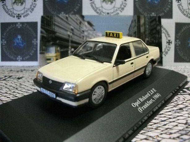 Miniatura táxi Opel Record 2.0 E Frankfurt (Alemanha)1984 ixo/altaya