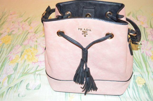 prada красивая кожаная женская сумка