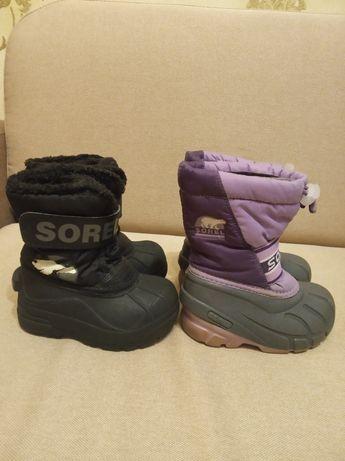 Зимние сапоги  ботинки сноубутсы Sorel р 24 (kamik Ecco)