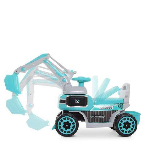 Детский электромобиль, трактор с ковшом, трактор
