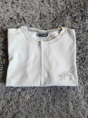Biała koszulka z aplikacją wilka
