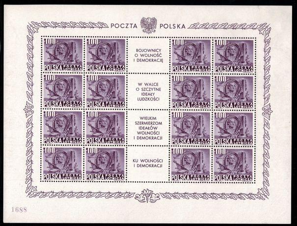 ARKUSZE BOJOWNIKÓW Fi 489-451 **- znaczki - rzadkość - filatelistyka
