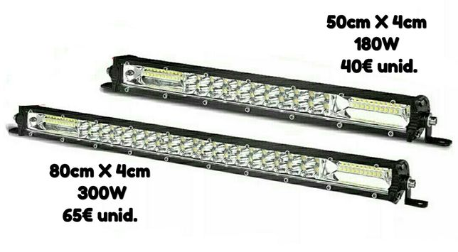 Barras led slim 50cm/80cm