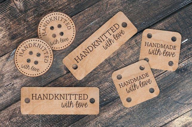 Personalizowane drewniane guziki - 25 sztuk
