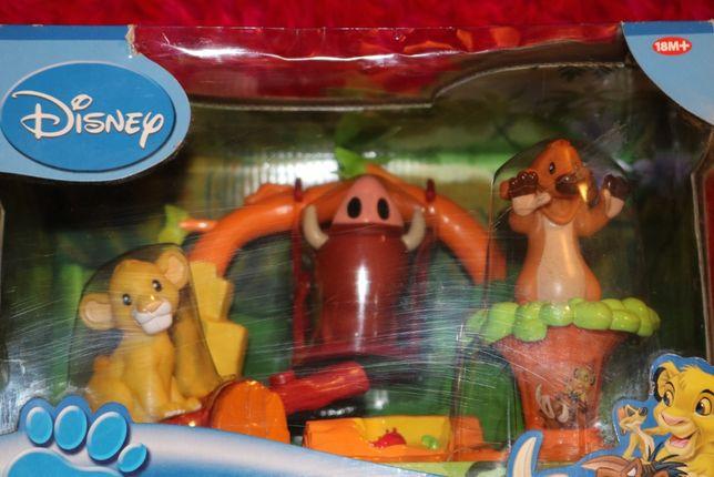 Figurki Timon i Pumba. Lion King Playset Disney. Nowe. Ban Dai. 18M+.