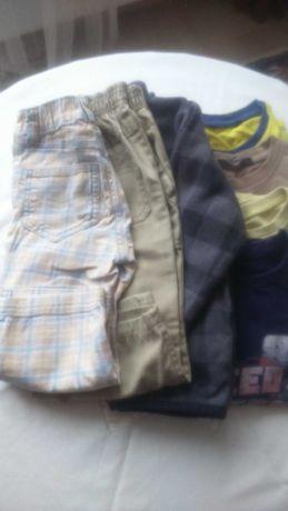 Paka ubrań za 15 zł. rozm.92-98cm/4 bluzki kr.r+2spodnie+bluza polar