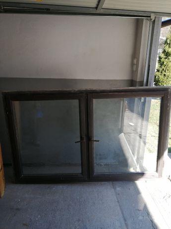 Okno drewniane dwuskrzydłowe z demontażu - 200 zł