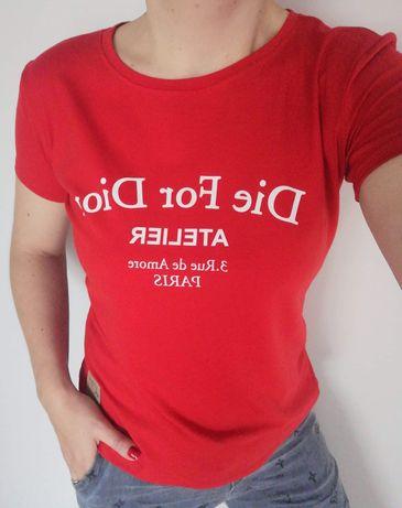 T-shirt czerwony