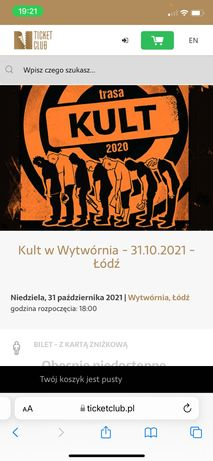 Bilety koncert KULT