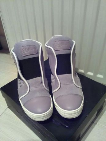 Skórzane sneakersy buty Beyco Pisarek szare