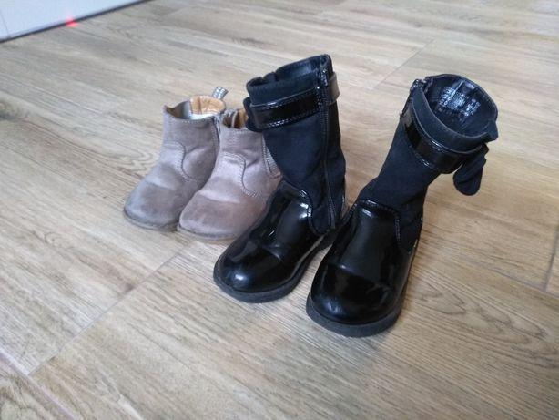 Buty dla dziecka dziewczynki botki kozaki kalosze jesień zima 3 pary