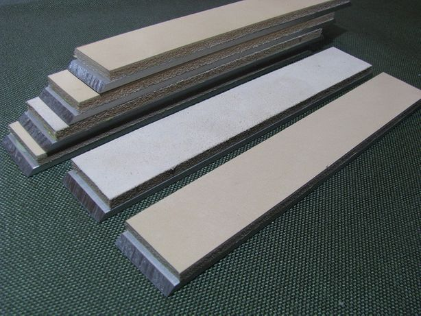 Бланки с кожей, бальсой для доводки на точилках для ножей типа APEX