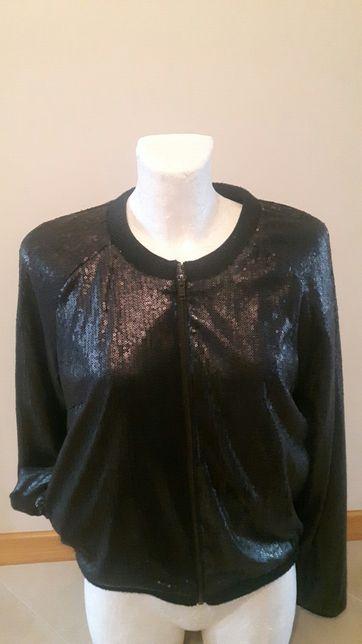 Kurtka bluza Ramoneska cekinowa M