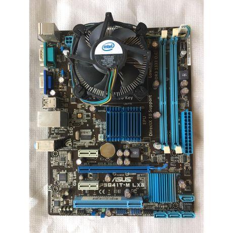 Набор для майнинга 775 плата G41 + pentium 5700 + cooler 4 GB DDR3