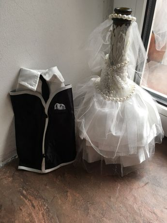 Свадебный наряд на бутылки декор на шампанское платье костюм