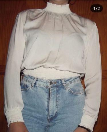 Blusa bershka aberta costas