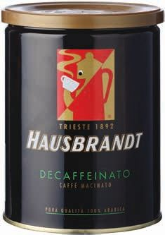 KAWA WŁOSKA Hausbrandt Coffee decaffeinated 250g ground- ORYGINAŁ